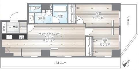 白金台桜苑マンション 間取り図