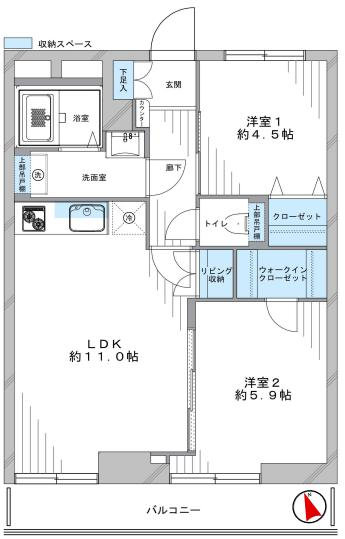 セブンスターマンション第2五反田 間取り