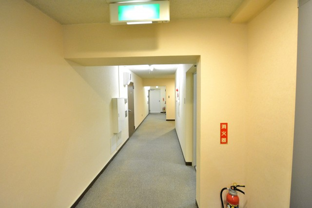マンション京都白金台 内廊下