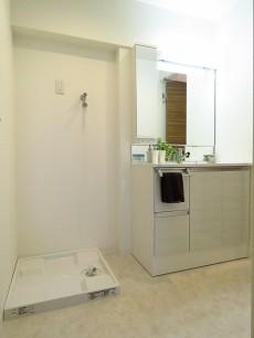 ハイライフ大森 洗濯機置場と洗面化粧台