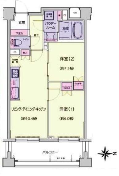 プレジール新宿大久保 間取り図