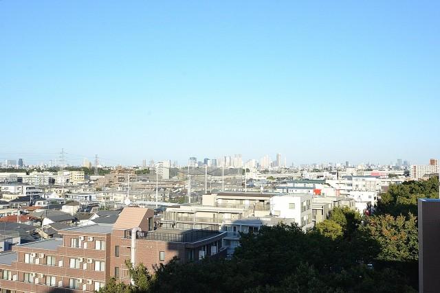 エントピア五月園 6.0帖洋室のバルコニー眺望
