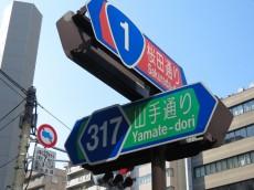 五反田サニーフラット 交差点