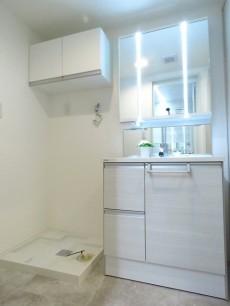恒陽馬込マンション 洗濯機置場と洗面化粧台