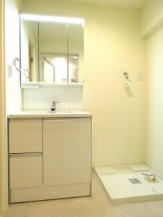 マンション御殿山 洗面化粧台と洗濯機置場