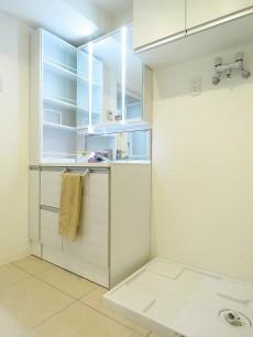 ディアハイム目黒 洗面化粧台と洗濯機置場