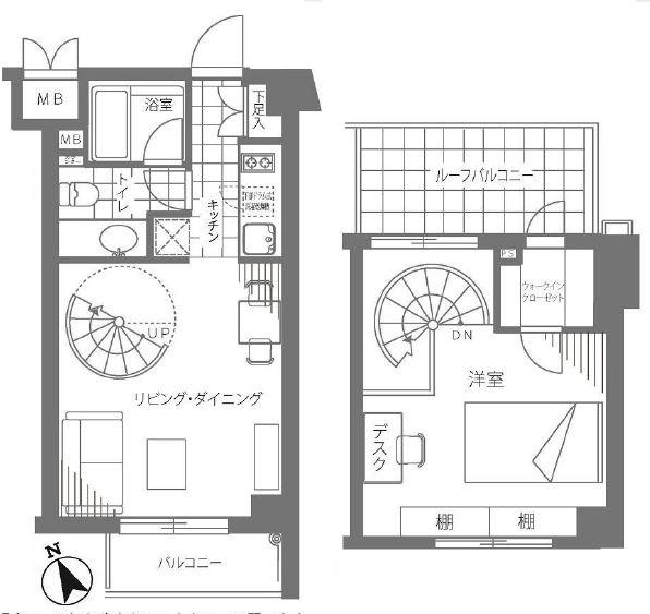 サンクタス四谷・曙橋ルーセンシティ 間取り図