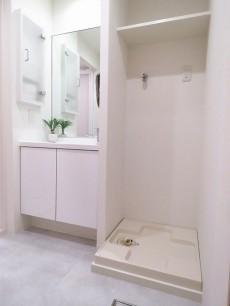 日商岩井碑文谷マンション 洗面化粧台と洗濯機置場