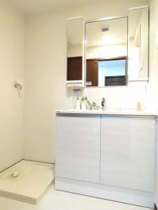 スカーラ西新宿シティプラザ 洗濯機置場と洗面化粧台