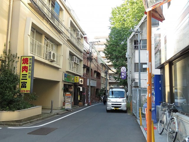マンション西新宿 エントランス前道路