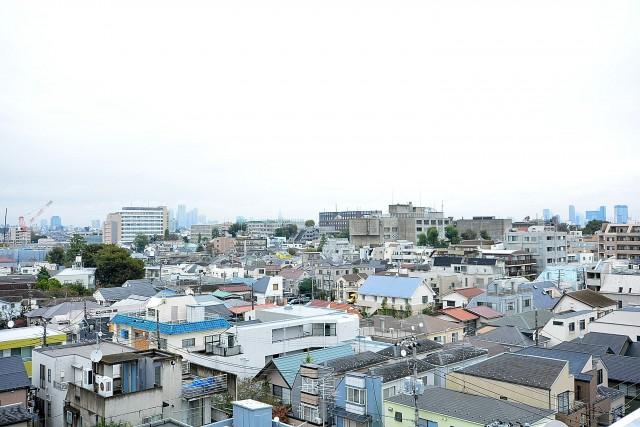 日商岩井豪徳寺マンション ルーフバルコニー眺望