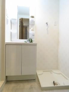 五反田ダイヤモンドマンション 洗面化粧台と洗濯機置場