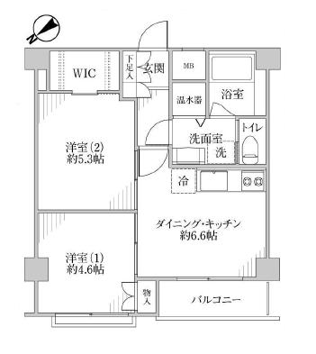 ハイネス小石川305  間取り図