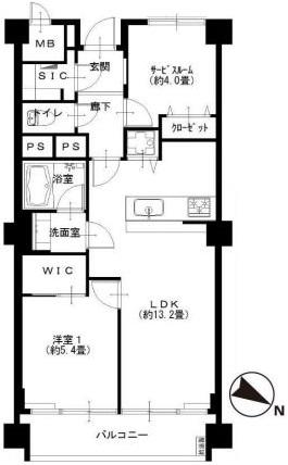 シャトー赤坂台 間取図