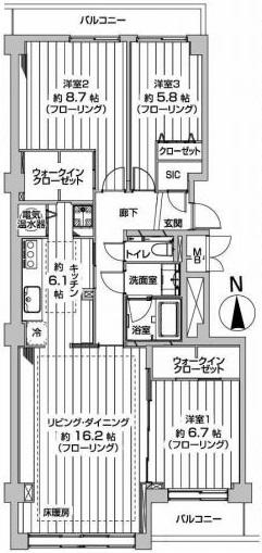 イトーピア東広尾マンション 間取図