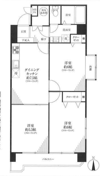 グリーンキャピタル神楽坂 間取図