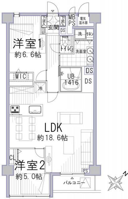 ハイツ赤坂102 間取り図