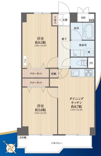 築地永谷コーポラス 間取り図