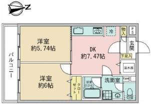自由ヶ丘第5マンション702 図面