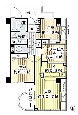ジェイパーク桜新町 間取り図