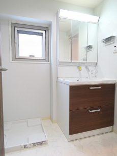 ライオンズマンション大森第3 洗濯機置場と洗面化粧台