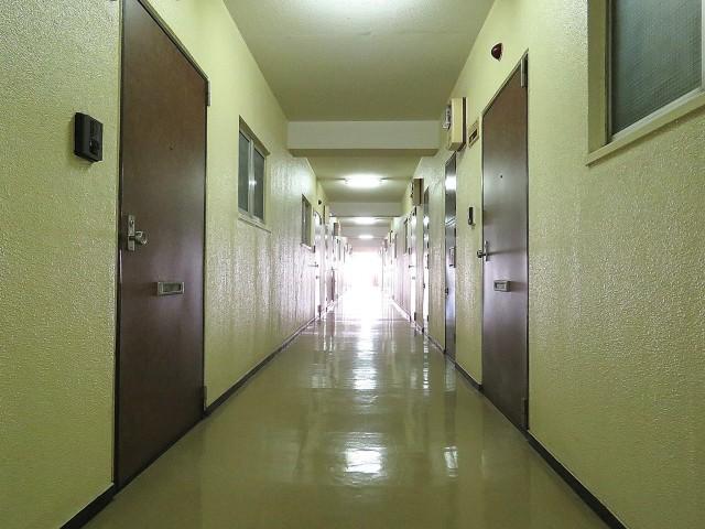東建マンション学芸大 共用廊下