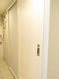 ライオンズマンション南平台 洗面室扉