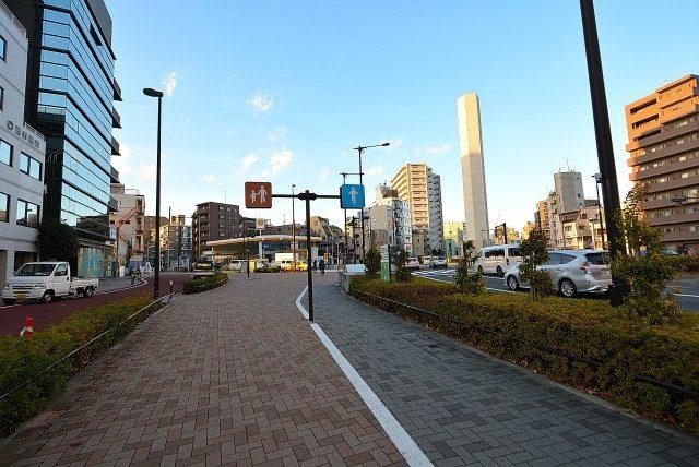 渋谷ー神泉周辺 歩行者_自転車道路