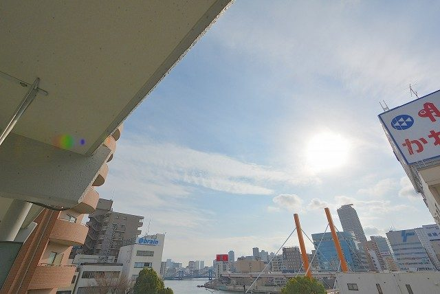 新大橋永谷マンションバルコニー