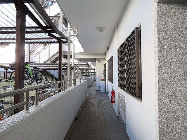 ルネ門前仲町 共用廊下