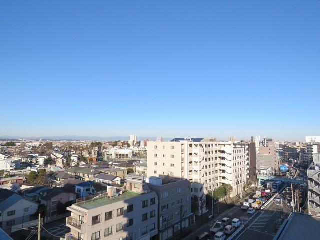 ライオンズマンション上野毛 共用廊下眺望