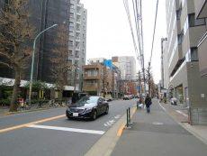 新中野マンション 前面道路