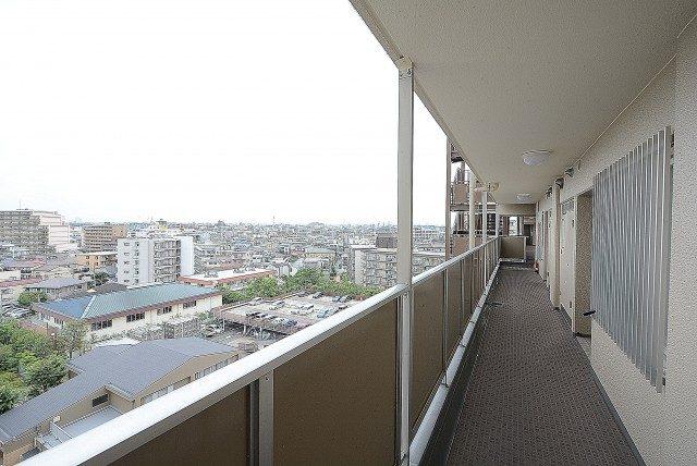 多摩川芙蓉ハイツ3号棟 外廊下