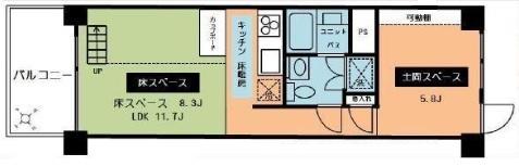 松見武蔵野マンション 間取り図