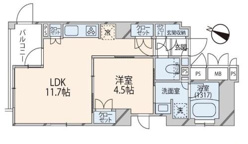 THEパームス渋谷常盤松 間取り図