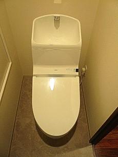 サングリア中目黒 ウォシュレット付トイレ。