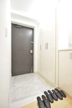 リシェ五反田スカイビュー 白基調の明るい玄関