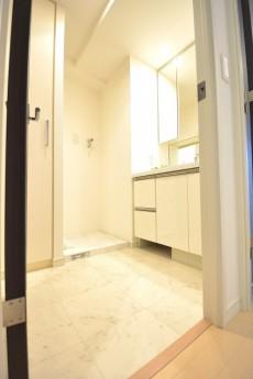 リシェ五反田スカイビュー 白基調で明るい洗面室