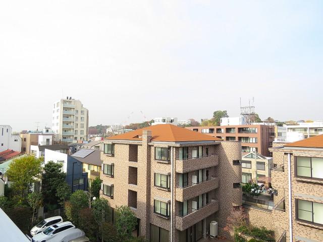 二子玉川ロイヤルマンション 共用廊下眺望