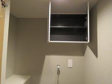 二子玉川ロイヤルマンション 洗濯機置場吊戸棚