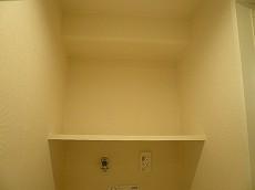 マンション白金台 洗濯機置場棚