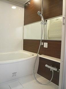 麻布狸穴ナショナルコート 落ち着きのある浴室です。