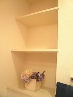 セブンスターマンション東山 トイレ 造作棚です。