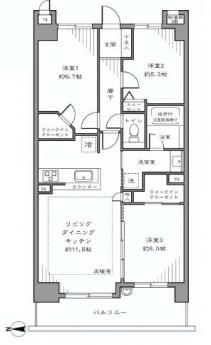 フォルスコート目黒大橋 3LDK+2WIC