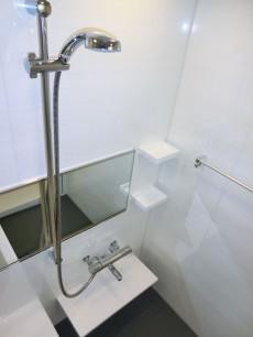 シャワーにはスライドバー、カウンター付