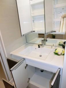 パセオ青山 三面鏡裏がキャビネットの洗面化粧台
