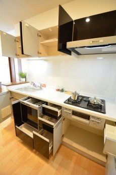 田町スカイハイツ 食洗器付きのシステムキッチン708