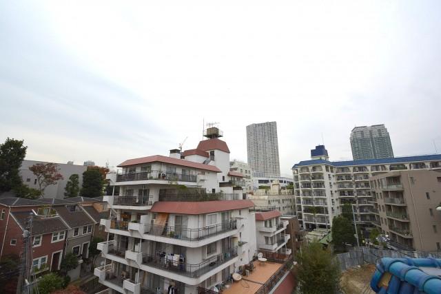 高輪中台マンション 周囲は静かな住宅街