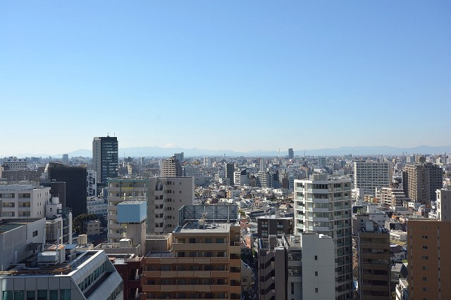 富士山が見える圧巻の眺望。