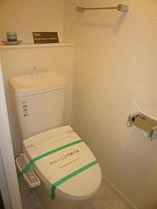 第三宮庭マンション ウォシュレット付トイレにはカウンターも!